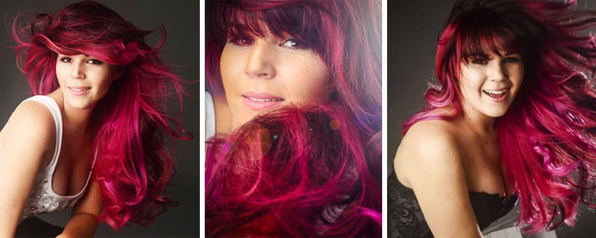 Pascale casselle vibrant fushia aquarely pink hair bright vivid hair how to