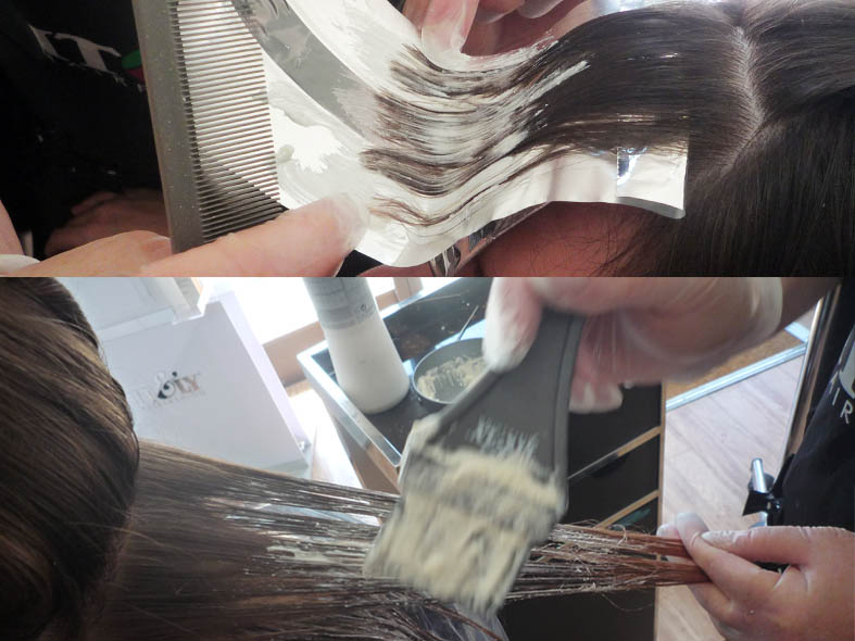 bleaching fringe and mids step1