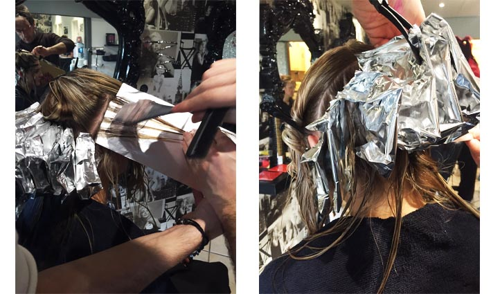 Nikki's Hair in foils with Delyton