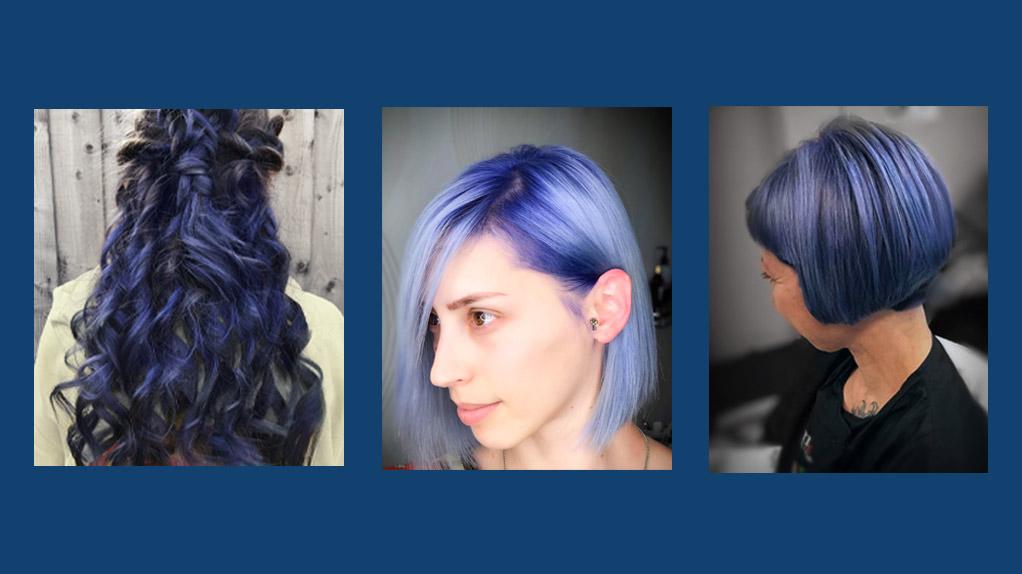 Pantone classic blue hair